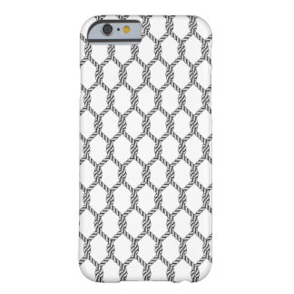Black And White Nautical Rope Pattern Barely There iPhone 6 Case