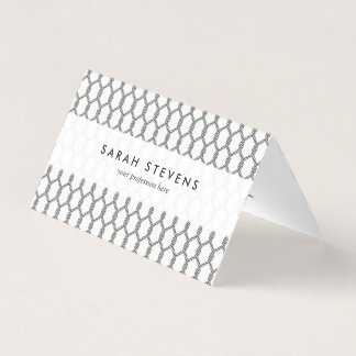 Black And White Nautical Rope Pattern Business Card