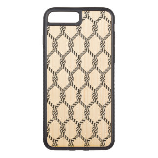 Black And White Nautical Rope Pattern Carved iPhone 8 Plus/7 Plus Case