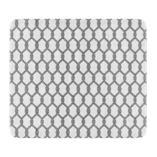 Black And White Nautical Rope Pattern Cutting Board