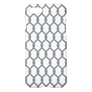 Black And White Nautical Rope Pattern iPhone 8/7 Case