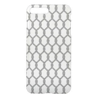 Black And White Nautical Rope Pattern iPhone 8 Plus/7 Plus Case