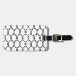 Black And White Nautical Rope Pattern Luggage Tag