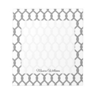 Black And White Nautical Rope Pattern Notepad