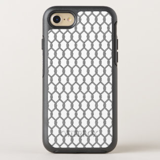 Black And White Nautical Rope Pattern OtterBox Symmetry iPhone 8/7 Case