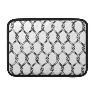 Black And White Nautical Rope Pattern Sleeve For MacBook Air