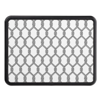Black And White Nautical Rope Pattern Trailer Hitch Cover