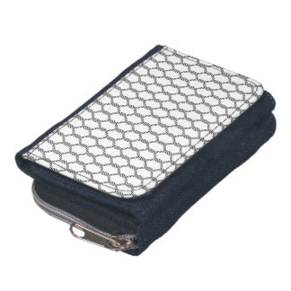 Black And White Nautical Rope Pattern Wallet