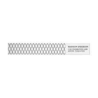 Black And White Nautical Rope Pattern Wrap Around Label