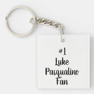 Black And White Number 1 Luke Pasqualino Fan Keychain