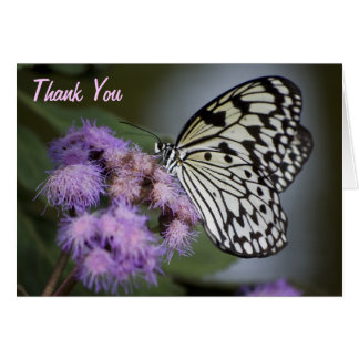 Black and White Nymph Butterfly Thank You Card