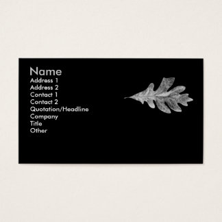 Black and White Oak Leaf Card