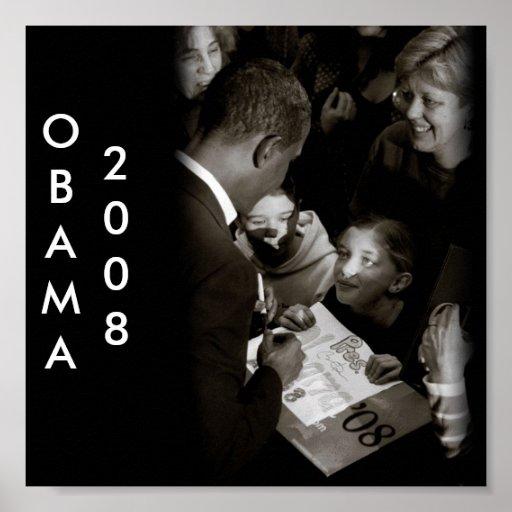 Black and White Obama Poster