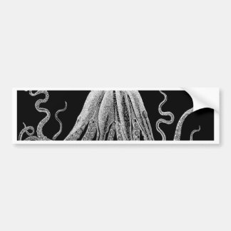 Black and white octopus bumper sticker