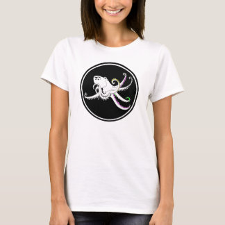 Black and White Octopus Funny Colorful Tentacles T-Shirt