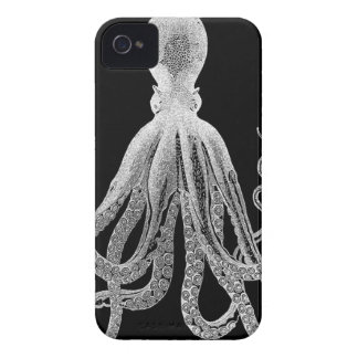 Black and white octopus iPhone 4 case