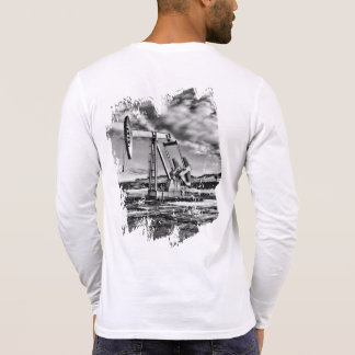 Black and White Oil Pumping Unit T-Shirt