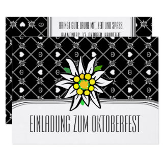 Black and White Oktoberfest invitations