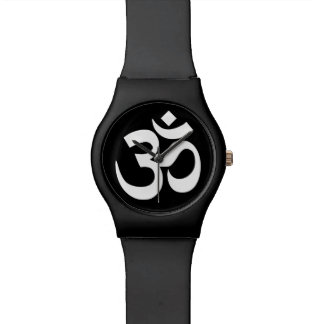 Black and White Om Symbol Watch