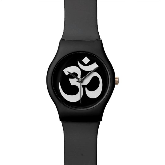 Black and White Om Symbol Wrist Watches