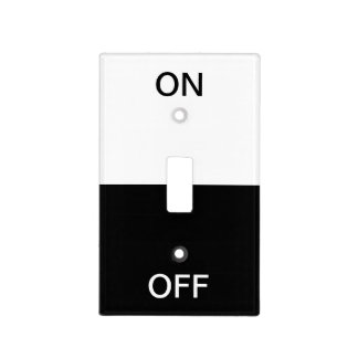 Black and White On and Off Light Switch Cover