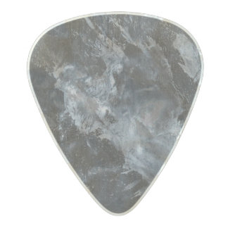 Black and White on Black Pearl Celluloid Guitar Pick