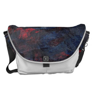 Black and White on Blue and Red Background Commuter Bags