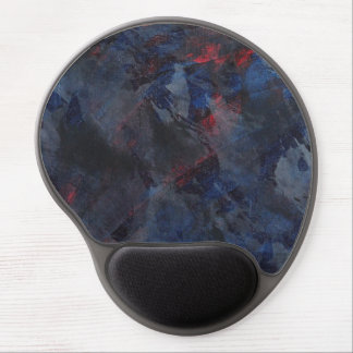 Black and White on Blue and Red Background Gel Mouse Pad