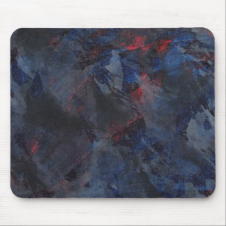 Black and White on Blue and Red Background Mouse Pad