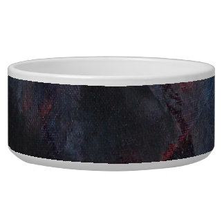 Black and White on Blue and Red Background Pet Water Bowl