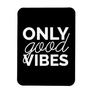 Black and White Only Good Vibes Rectangular Photo Magnet