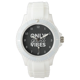 Black and White Only Good Vibes Watch