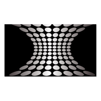 Black and White Optical Illusion Business Card Templates
