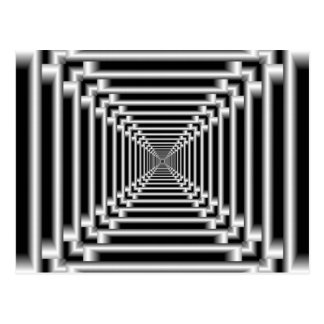 Black and White Optical Illusion Postcard