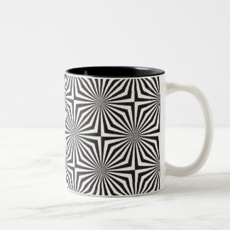 Black and white optical illusion Two-Tone coffee mug