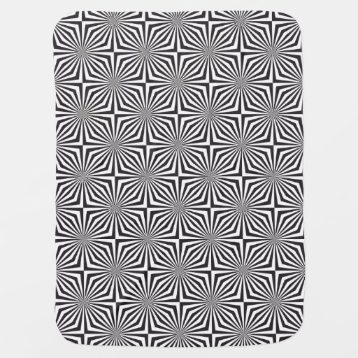Black and white optical illusion receiving blankets