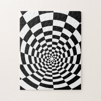 Black And White Optical Pattern Jigsaw Puzzle