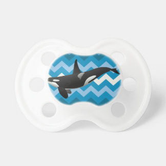 Black and White Orca Killer Whale Baby Pacifier