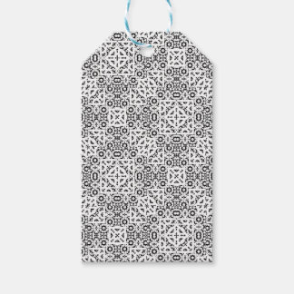Black and White Oriental Ornate Gift Tags