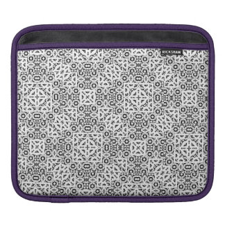 Black and White Oriental Ornate iPad Sleeve