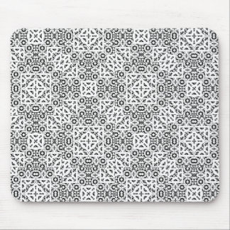 Black and White Oriental Ornate Mouse Pad