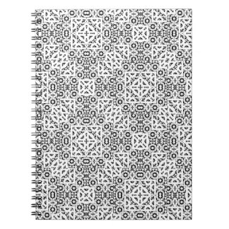 Black and White Oriental Ornate Notebook