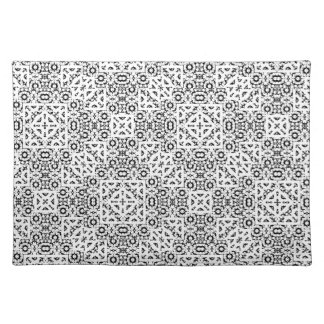 Black and White Oriental Ornate Placemat