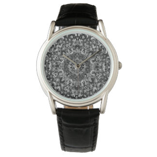 Black and White Oriental Rug Wristwatch
