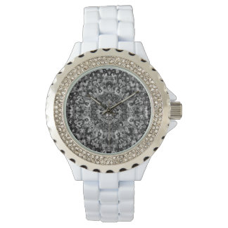 Black and White Oriental Rug Wristwatches