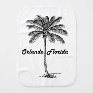 Black and White Orlando & Palm design Baby Burp Cloth