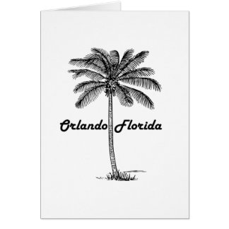 Black and White Orlando & Palm design Card