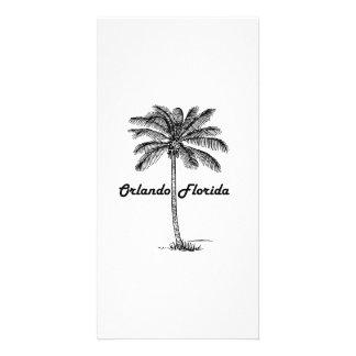 Black and White Orlando & Palm design Card