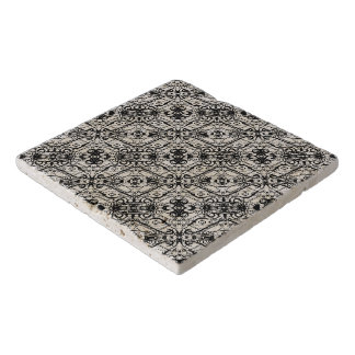 Black and White Ornate Pattern Trivet