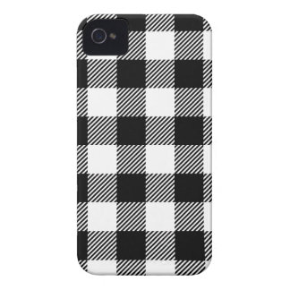 Black and White Outdoor Gingham Pattern Art Design iPhone 4 Cover